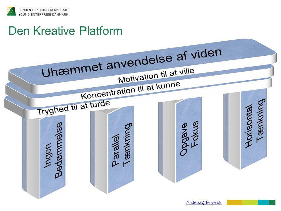 15 Anders@ffe-ye.dk Den Kreative Platform Et værktøj med flere muligheder