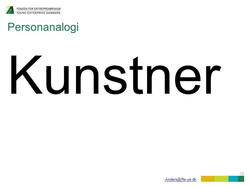 29 Anders@ffe-ye.dk Personanalogi Kunstner