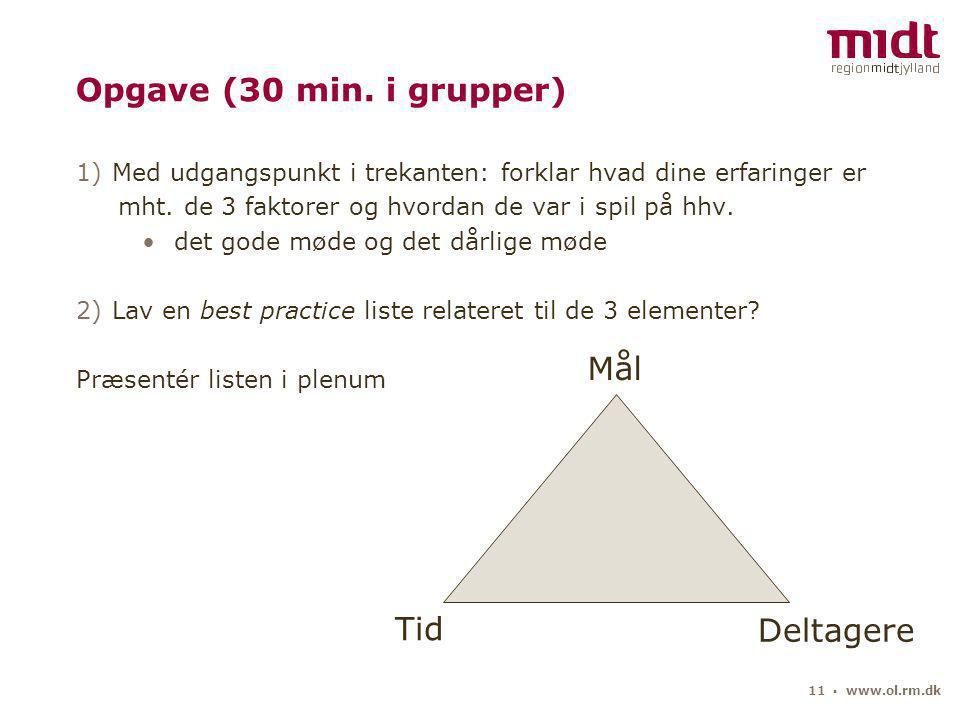11 ▪ www.ol.rm.dk Opgave (30 min.