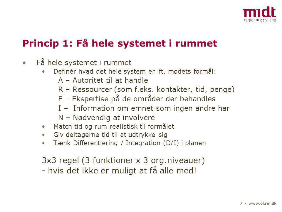 7 ▪ www.ol.rm.dk Få hele systemet i rummet Definér hvad det hele system er ift.