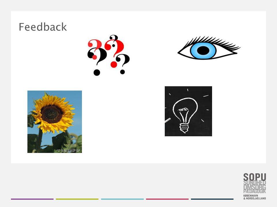 Tekstslide med bullets Brug 'Forøge / Formindske indryk' for at skifte mellem de forskellige niveauer Feedback