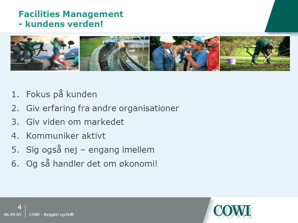 4 06.09.05 COWI - Byggeri og Drift Facilities Management - kundens verden.
