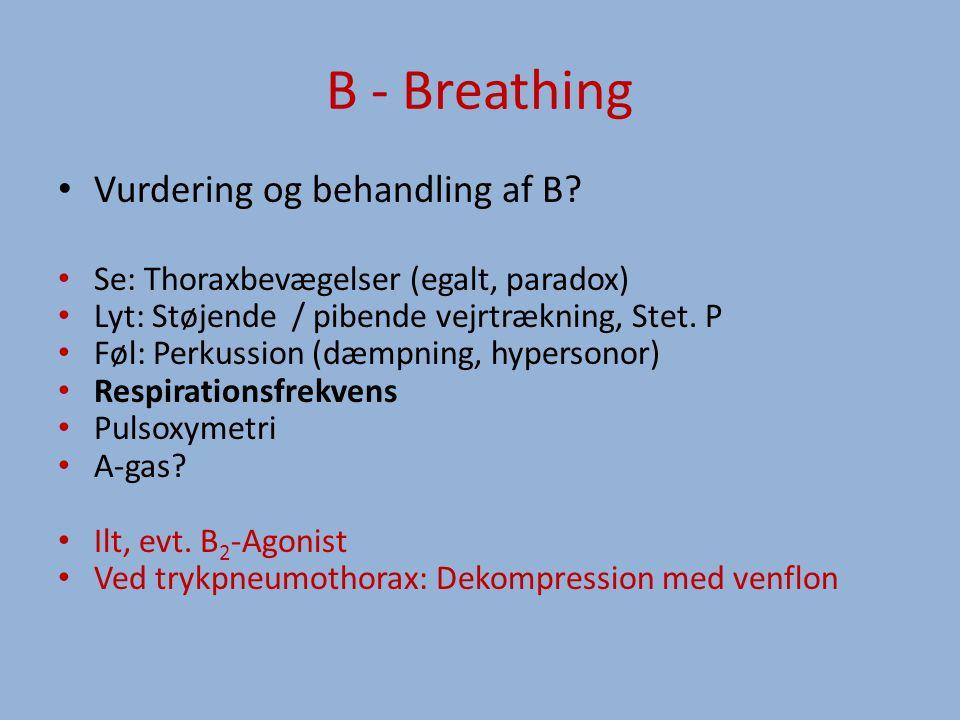 B - Breathing Vurdering og behandling af B.