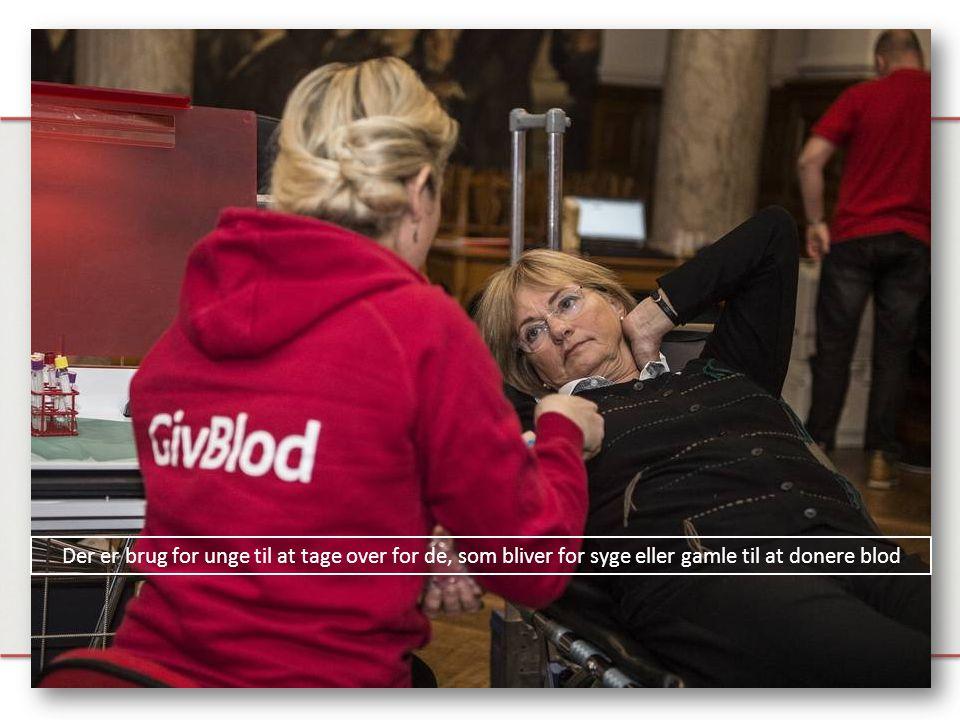 Der er brug for unge til at tage over for de, som bliver for syge eller gamle til at donere blod