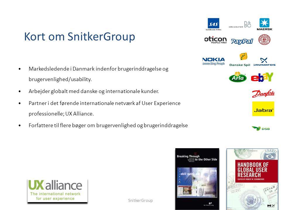 Markedsledende i Danmark indenfor brugerinddragelse og brugervenlighed/usability.