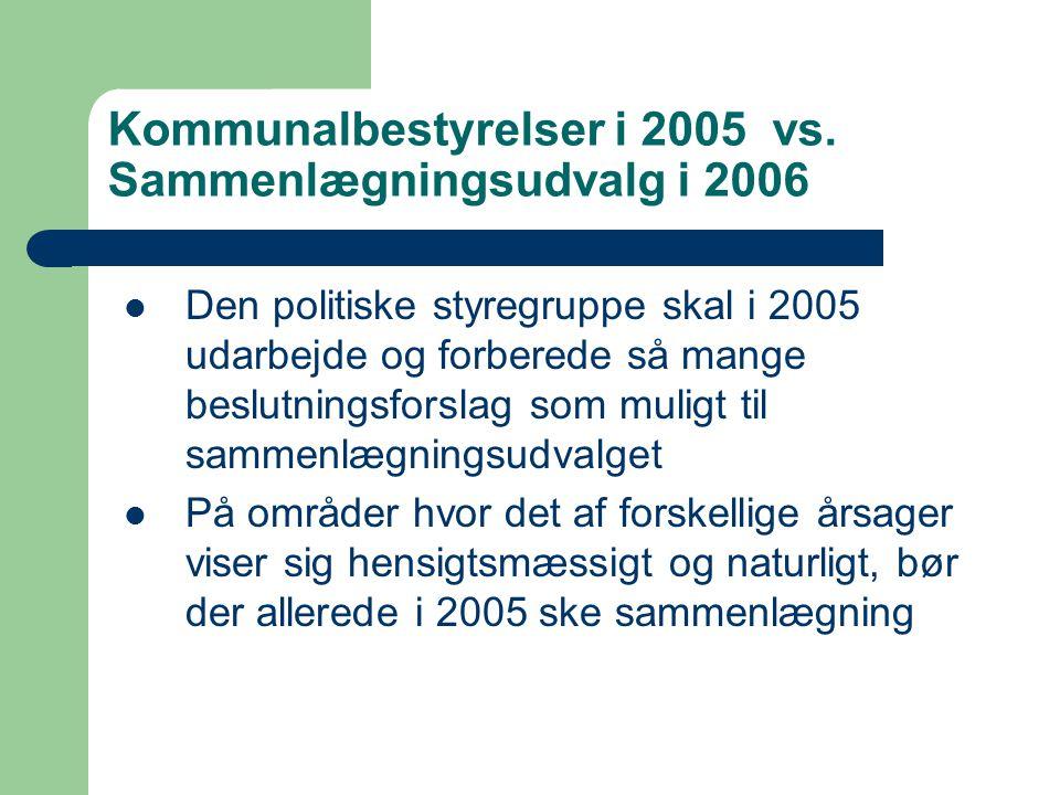 Kommunalbestyrelser i 2005 vs.