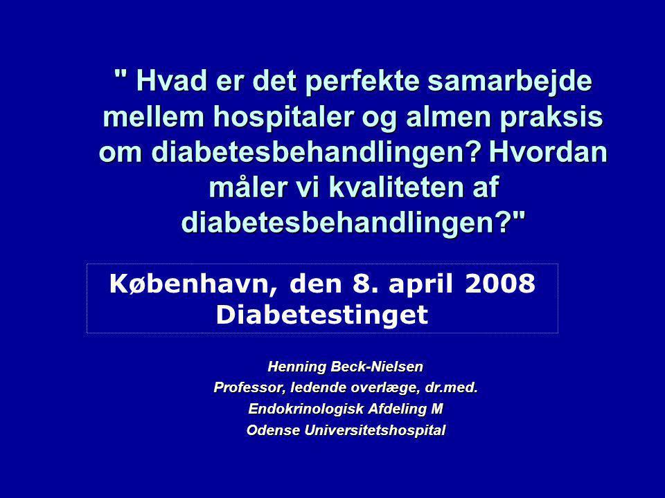 Hvad er det perfekte samarbejde mellem hospitaler og almen praksis om diabetesbehandlingen.