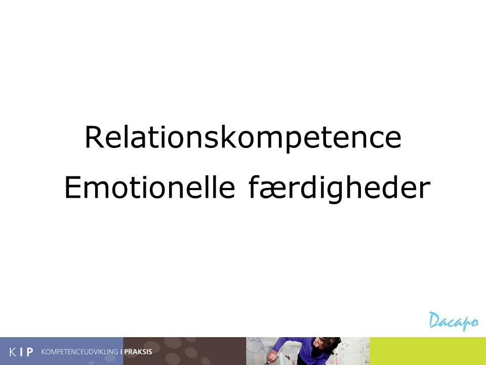 Relationskompetence Emotionelle færdigheder