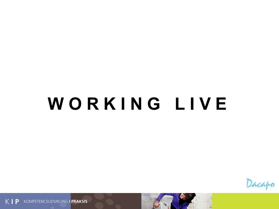 Hvorfor Working Live. Fordi det er i hverdagen, det sker.