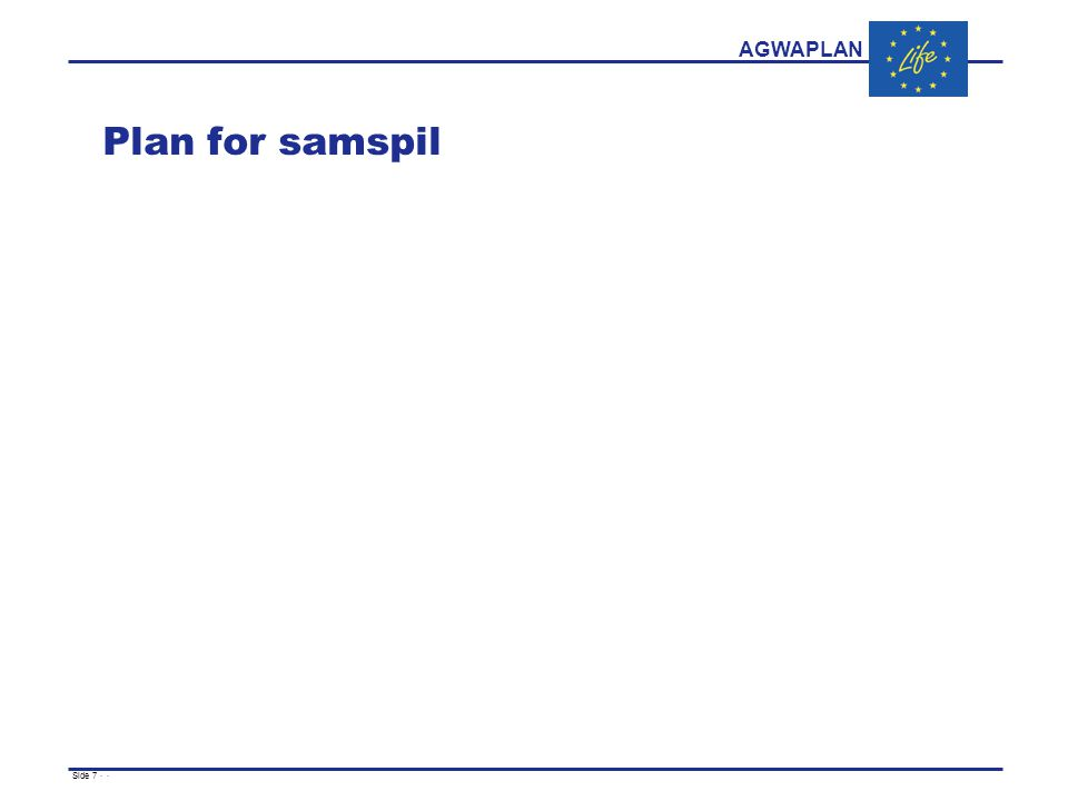 AGWAPLAN Side 7 · · Plan for samspil