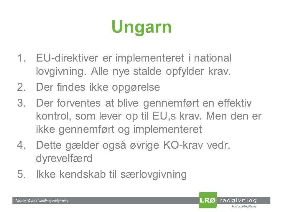 Ungarn 1.EU-direktiver er implementeret i national lovgivning.