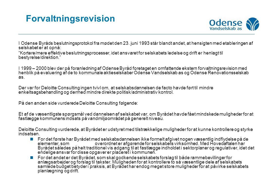 Forvaltningsrevision I Odense Byråds beslutningsprotokol fra mødet den 23.