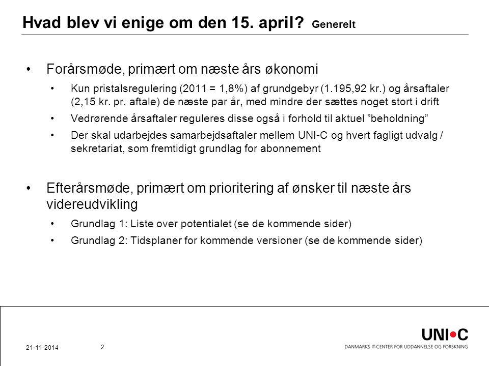 Hvad blev vi enige om den 15. april.