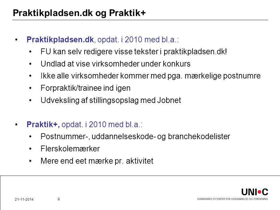 Praktikpladsen.dk og Praktik+ Praktikpladsen.dk, opdat.