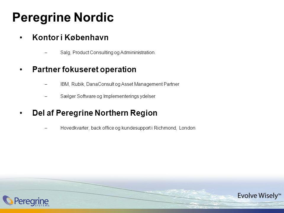 Peregrine Nordic Kontor i København –Salg, Product Consulting og Admininistration.