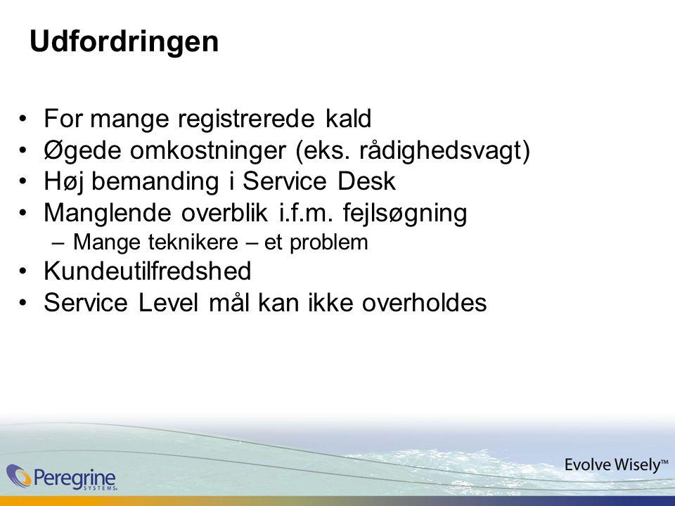 Udfordringen For mange registrerede kald Øgede omkostninger (eks.