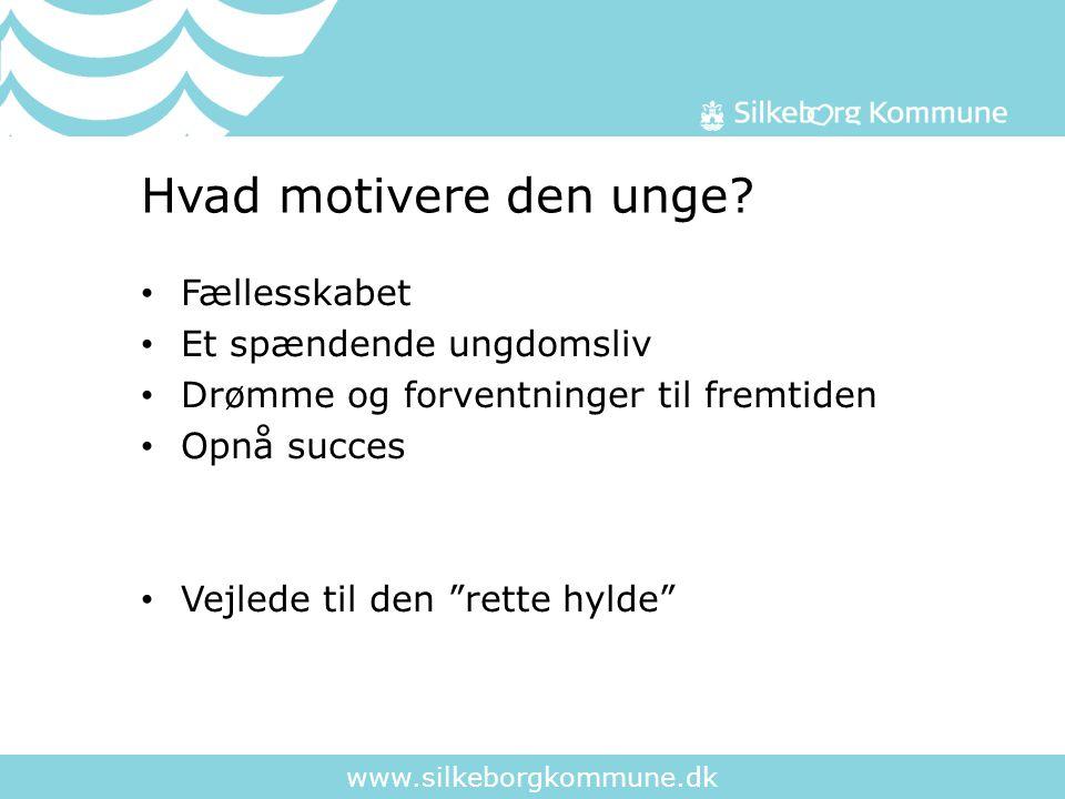 www.silkeborgkommune.dk Hvad motivere den unge.