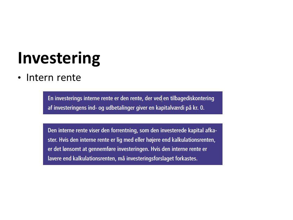 Investering Intern rente