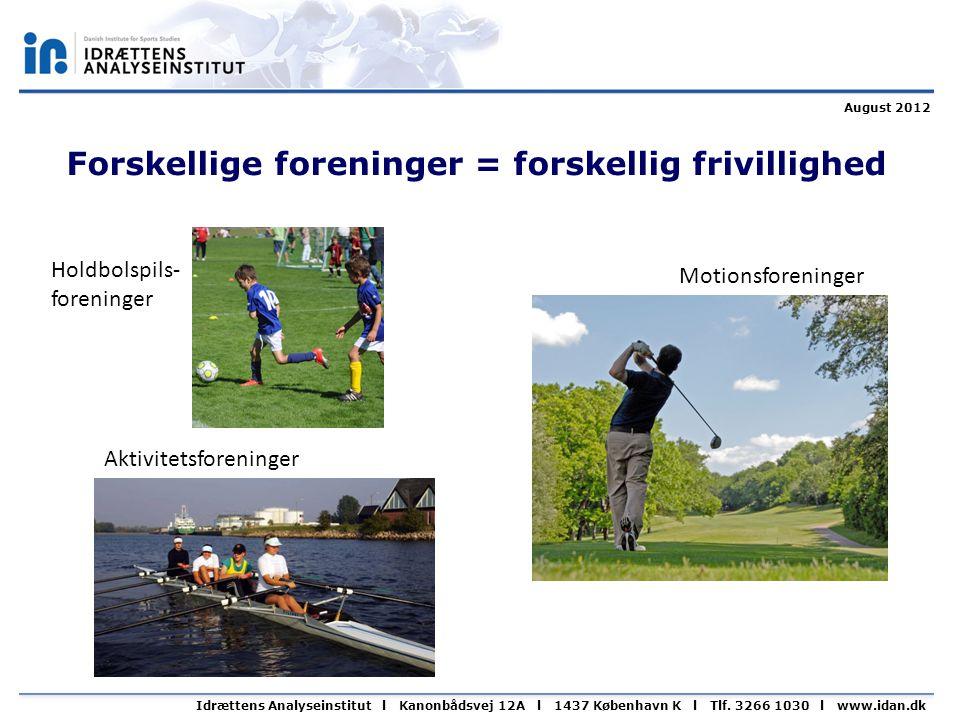 Idrættens Analyseinstitut l Kanonbådsvej 12A l 1437 København K l Tlf.