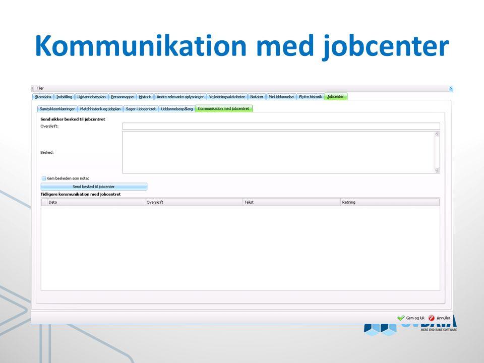 Kommunikation med jobcenter