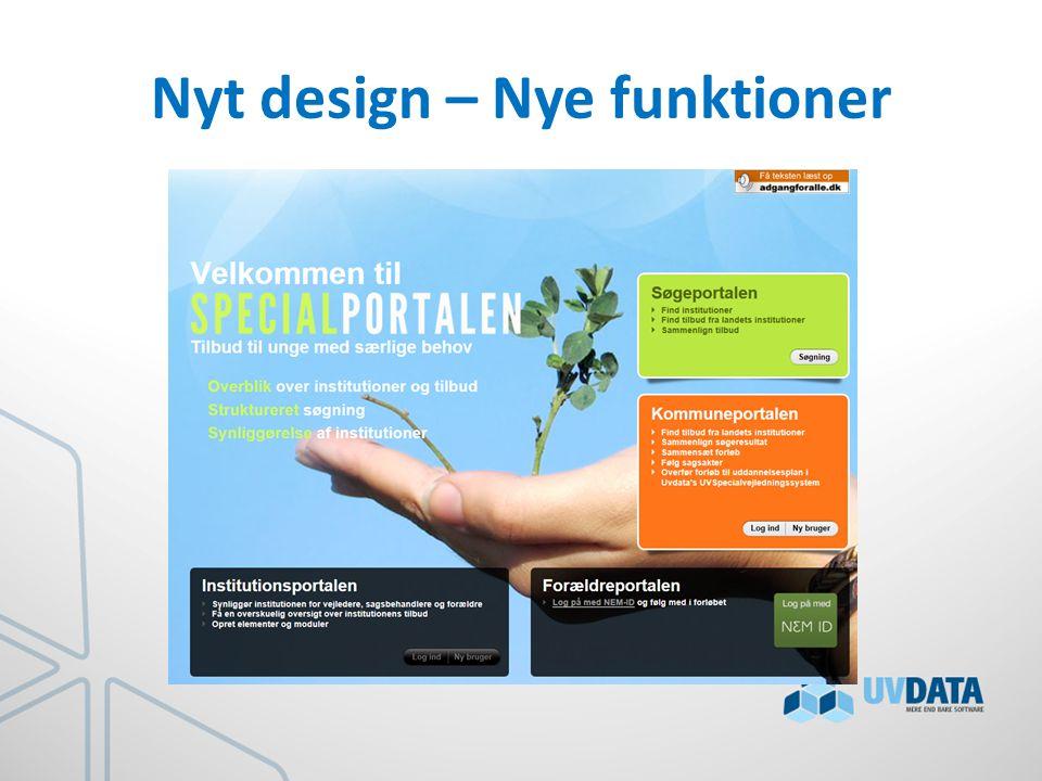 Nyt design – Nye funktioner