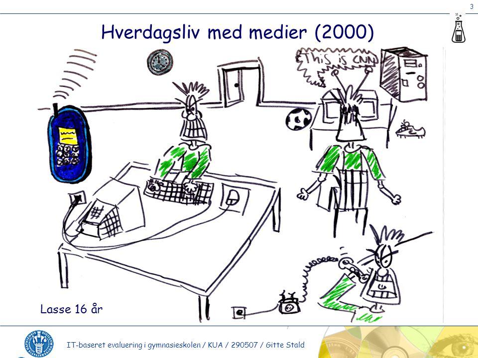 3 IT-baseret evaluering i gymnasieskolen / KUA / 290507 / Gitte Stald Hverdagsliv med medier (2000) Lasse 16 år