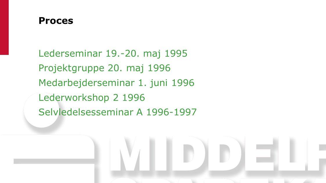 Proces Lederseminar 19.-20. maj 1995 Projektgruppe 20.