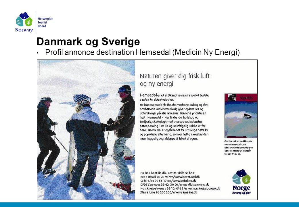 Danmark og Sverige Profil annonce destination Hemsedal (Medicin Ny Energi)