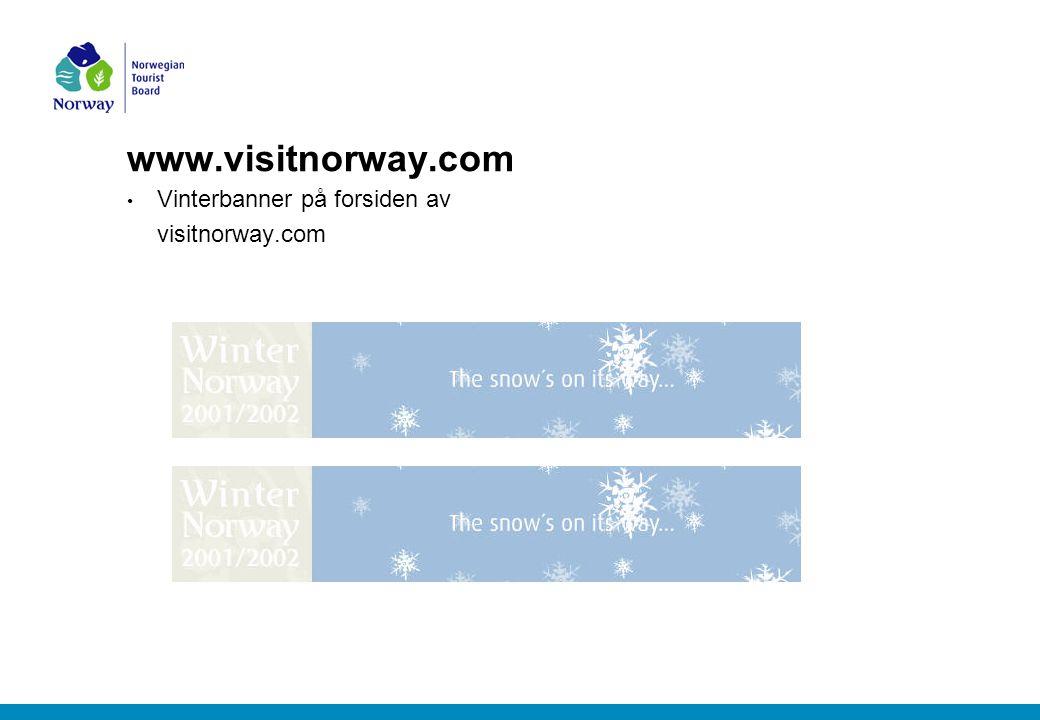 www.visitnorway.com Vinterbanner på forsiden av visitnorway.com