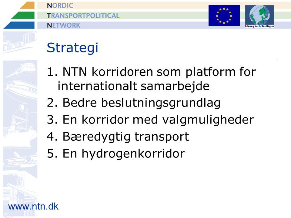 www.ntn.dk Strategi 1. NTN korridoren som platform for internationalt samarbejde 2.