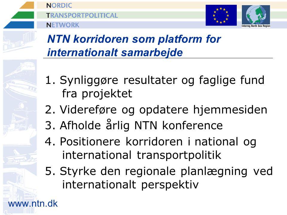 www.ntn.dk NTN korridoren som platform for internationalt samarbejde 1.