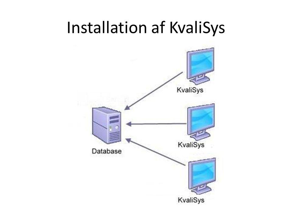 Installation af KvaliSys