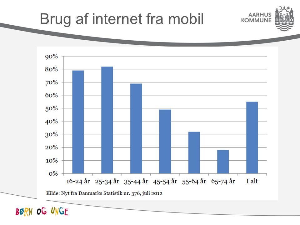 Brug af internet fra mobil
