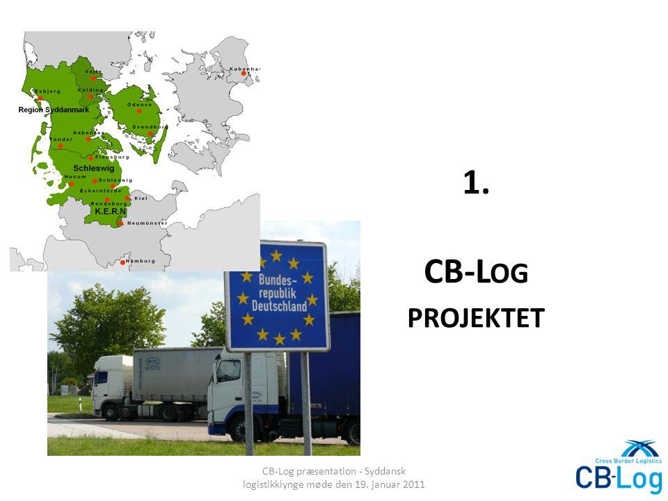 1. CB-L OG PROJEKTET CB-Log præsentation - Syddansk logistikklynge møde den 19. januar 2011