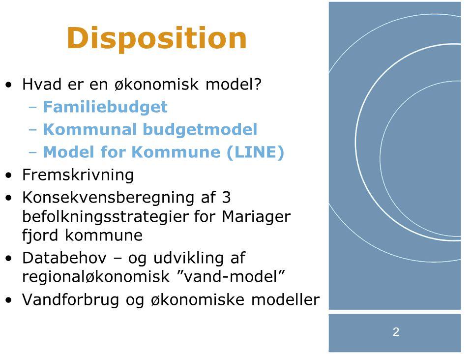 2 Disposition Hvad er en økonomisk model.