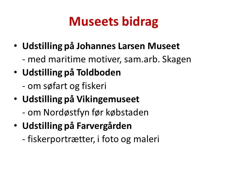 Museets bidrag Udstilling på Johannes Larsen Museet - med maritime motiver, sam.arb.