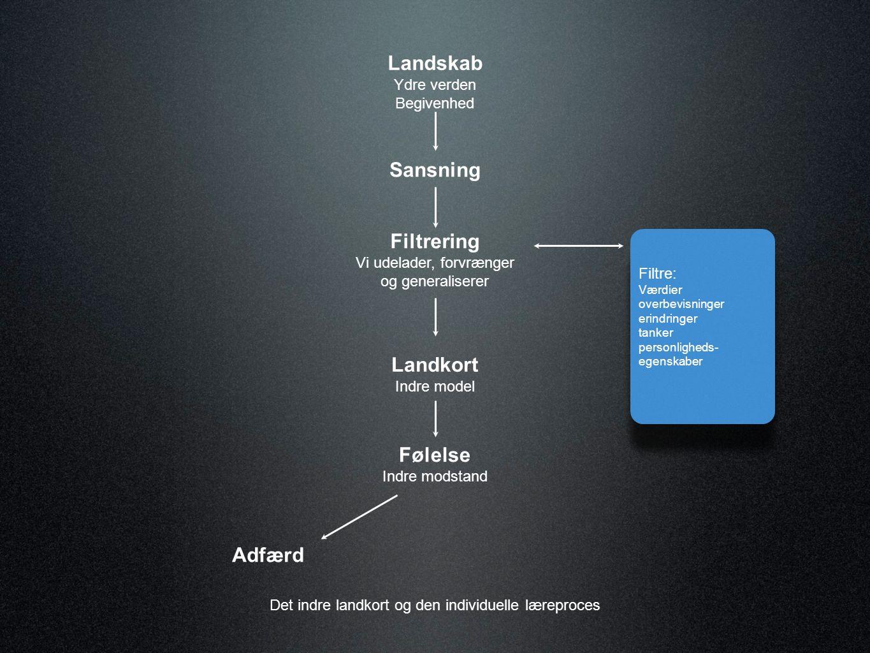 Læringsgrader i Organisationer Resultater (Læringssituation) Handlinger Grundlæggende antagelser og værdier Lærings- kompetence 1.