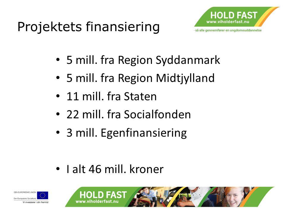 Projektets finansiering 5 mill. fra Region Syddanmark 5 mill.