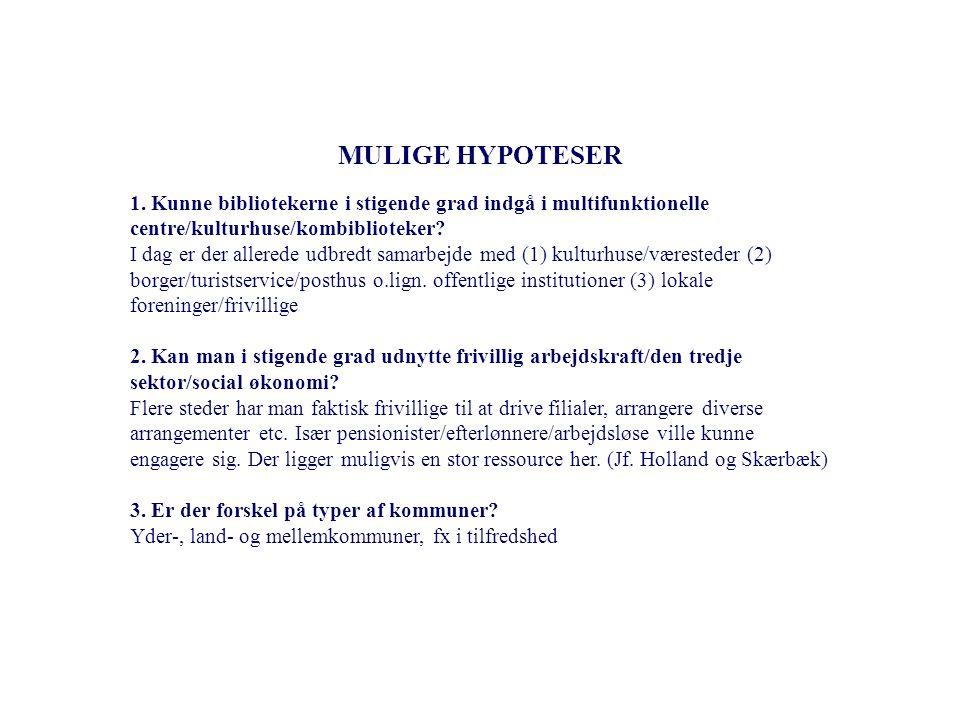 13 MULIGE HYPOTESER 1.