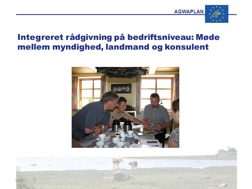 AGWAPLAN Side 2 · · Integreret rådgivning på bedriftsniveau: Møde mellem myndighed, landmand og konsulent