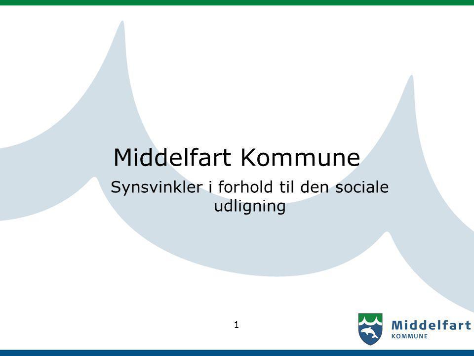 1 Middelfart Kommune Synsvinkler i forhold til den sociale udligning