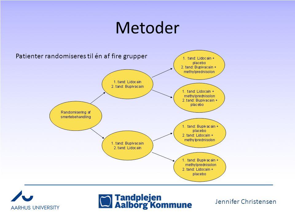Jennifer Christensen Metoder Patienter randomiseres til én af fire grupper