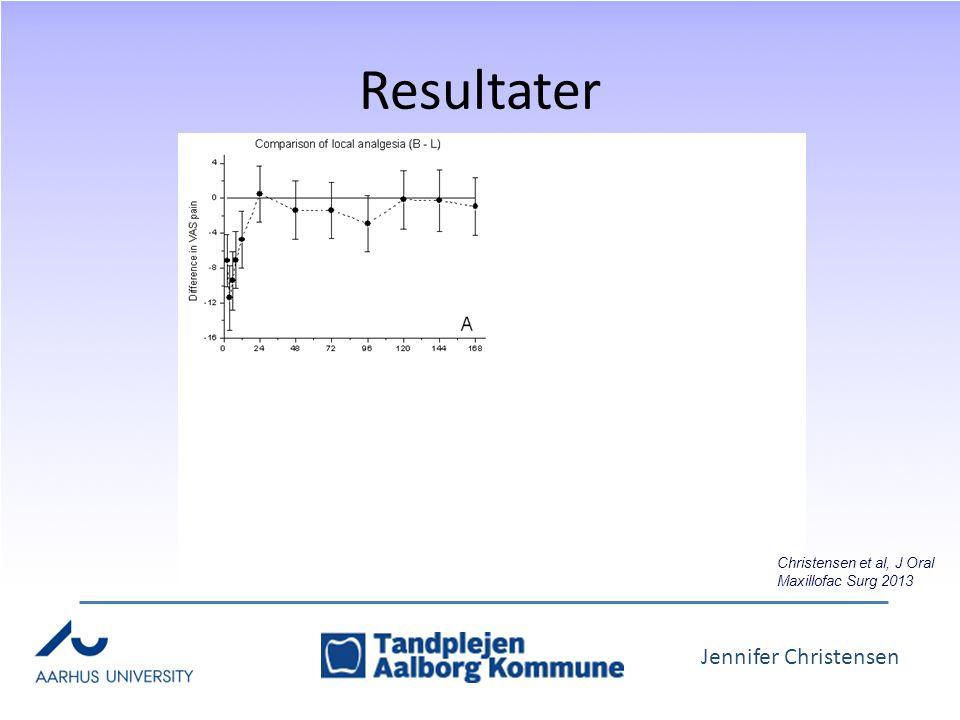 Jennifer Christensen Resultater Christensen et al, J Oral Maxillofac Surg 2013