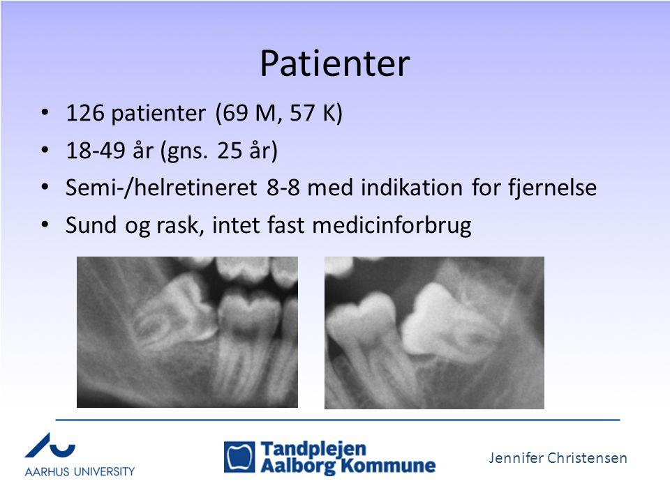 Jennifer Christensen Patienter 126 patienter (69 M, 57 K) 18-49 år (gns.