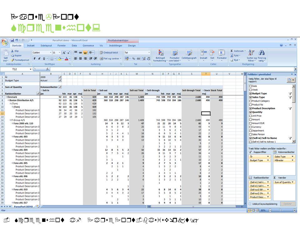 -Screenshot af ParsePort-basisværktøj