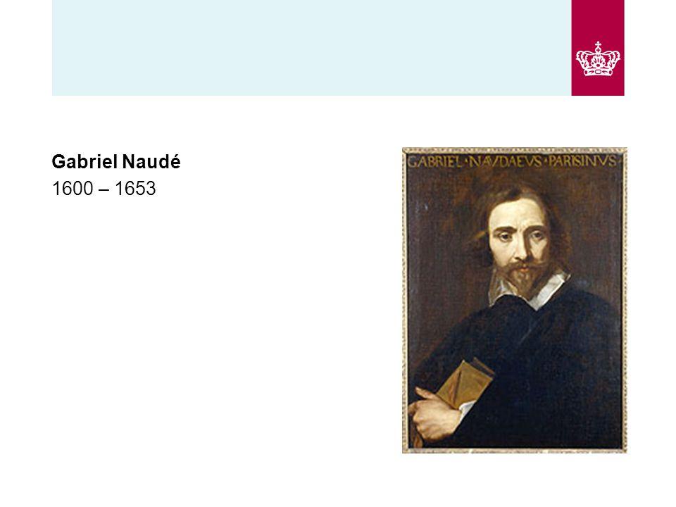 Gabriel Naudé 1600 – 1653