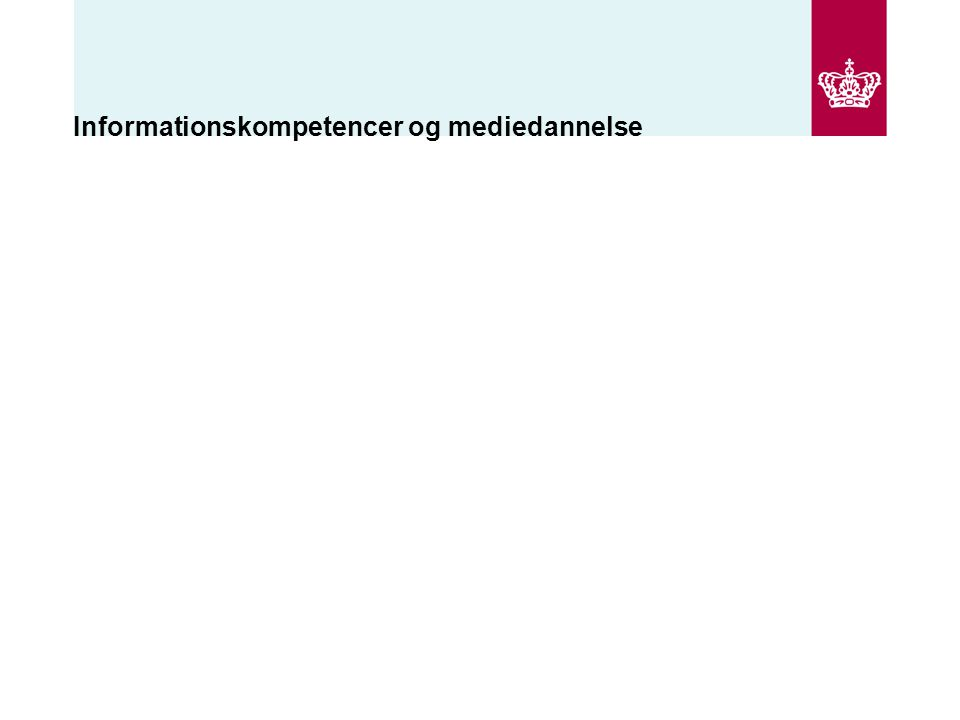 Informationskompetencer og mediedannelse