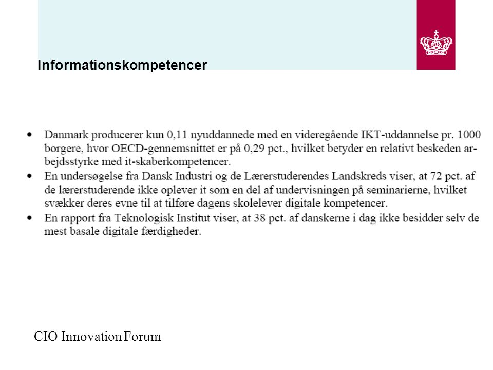 Informationskompetencer CIO Innovation Forum