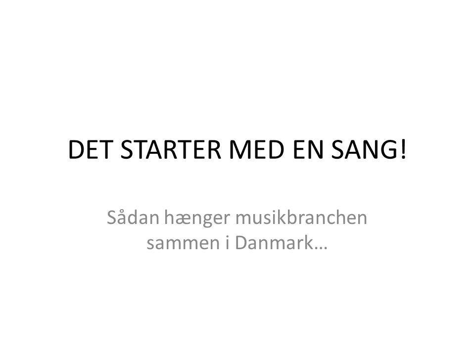 DET STARTER MED EN SANG! Sådan hænger musikbranchen sammen i Danmark…
