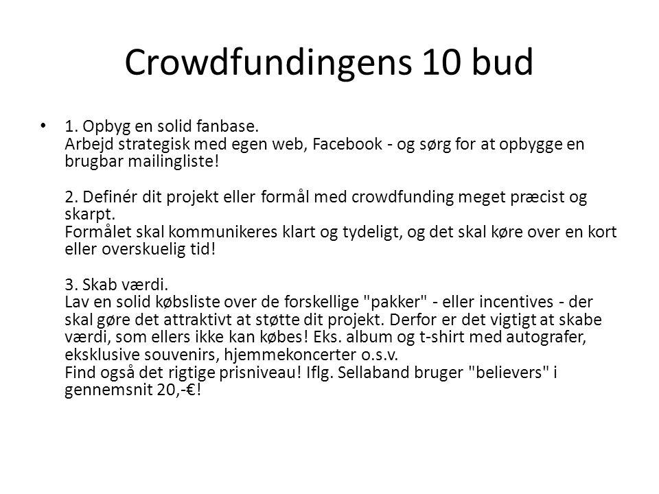 Crowdfundingens 10 bud 1. Opbyg en solid fanbase.